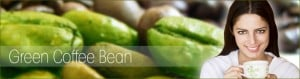 green coffee bean banner